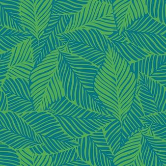 夏の自然ジャングルプリント。エキゾチックな植物熱帯パターン、ヤシの葉のシームレス