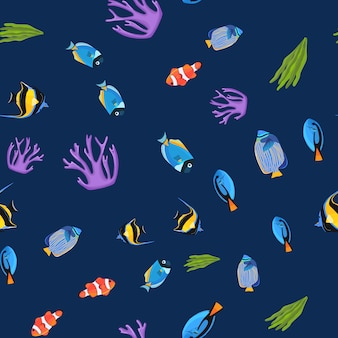 海中シームレスパターン