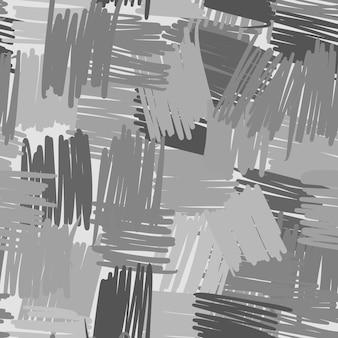 幾何学的な混沌とした線のシームレスなパターン。