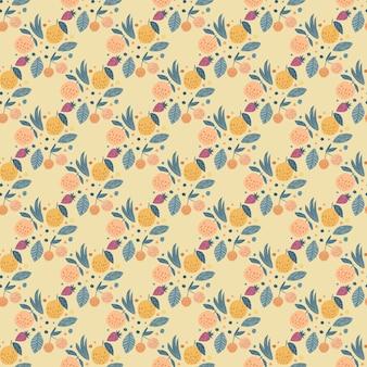 幾何学的なフルーツのシームレスパターン