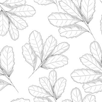 Бесшовный узор из листьев