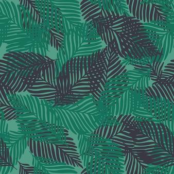抽象的なエキゾチックな熱帯植物のシームレスパターン