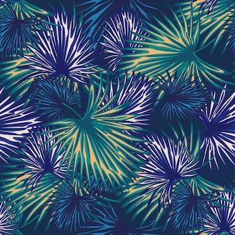 抽象的なエキゾチックな植物のシームレスパターン