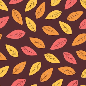 葉と抽象的な秋の背景。