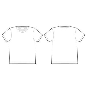 Технический эскиз футболки. унисекс шаблон дизайна верхнего белья.
