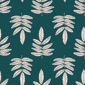 Бесшовные с белыми ветвями на зеленом