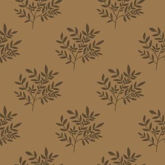 幾何学的な葉のシームレスなパターン。木の枝の壁紙。ヴィンテージスタイル