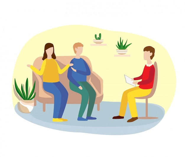 Семейное консультирование с психологом.