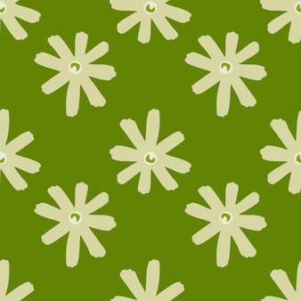 デイジーの花と幾何学的な抽象的な花柄シームレスパターン