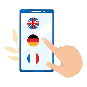 外国語オンライン学習ドイツ語、英語、フランス語