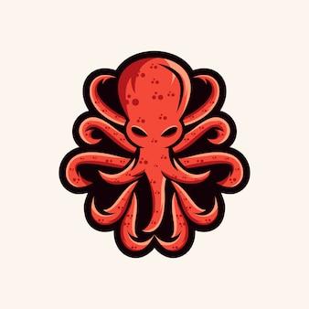 Логотип осьминога, иллюстрация