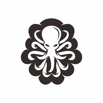 Вектор логотипа осьминога,