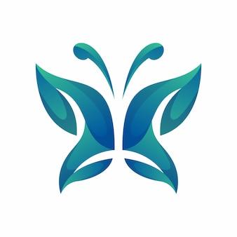 蝶のロゴのベクトル