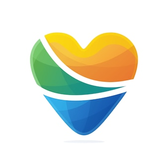 Градиент логотипа любовь