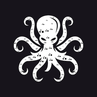 Шаблон логотипа осьминога