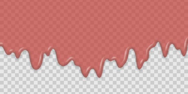 Капающее клубничное или малиново-красное варенье