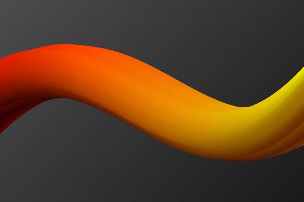 液体の形をした抽象的な流体の背景。