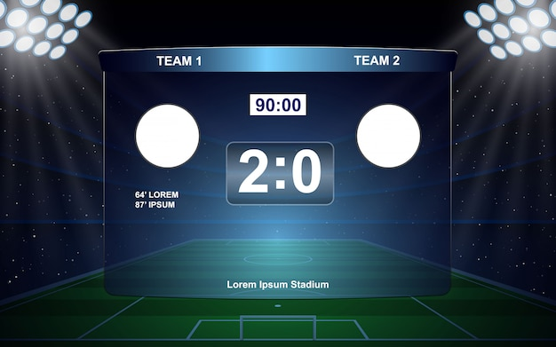 Футбольное табло трансляции