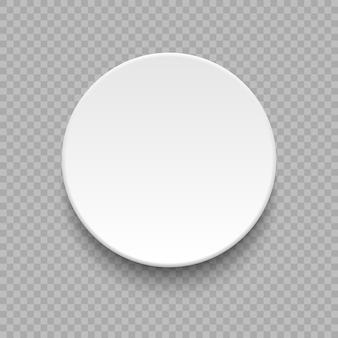丸い空の皿