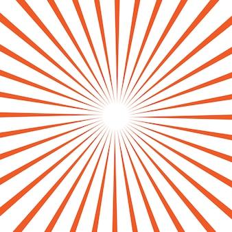 Векторный фон с солнечными лучами