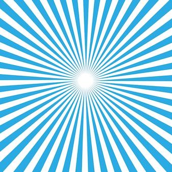 太陽光線のベクトルの背景