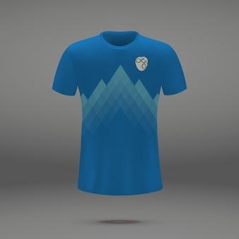 Футбольная форма словении, шаблон футболки для футбольного трикотажа