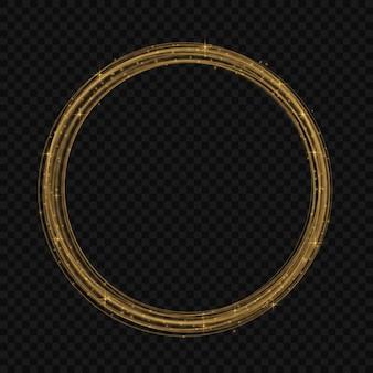 黒地に金色の装飾的な要素を持つカラフルなベクトル図。休日のデザインのための抽象的なテンプレート