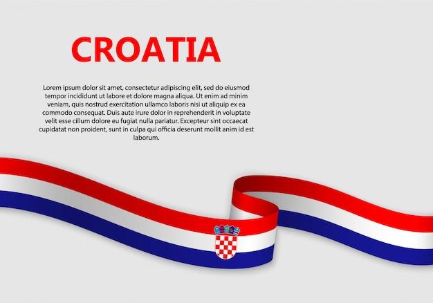 クロアチアの旗を振ってバナー