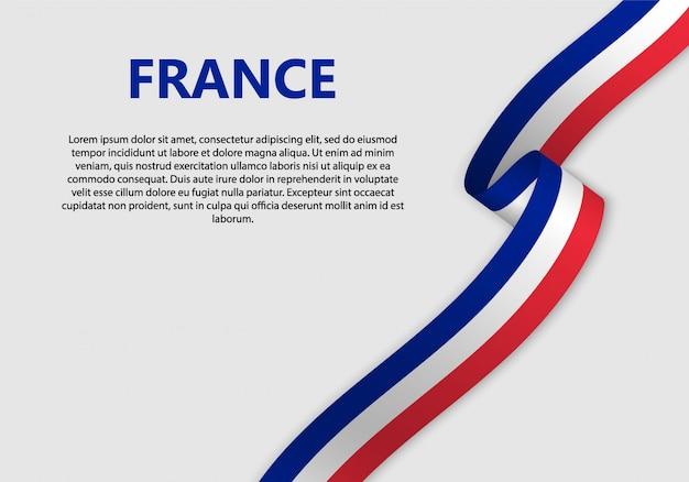 Развевающийся флаг франции баннер