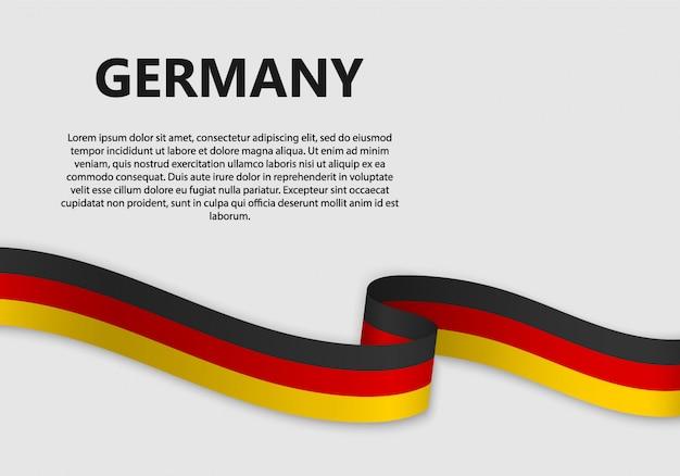 Развевающийся флаг германии баннер
