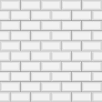 地下鉄レンガタイルの壁。