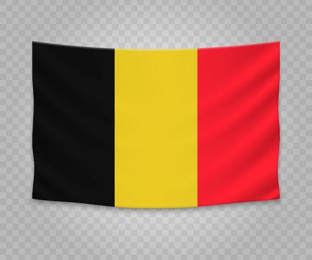 ベルギーのリアルなハンギングフラグ