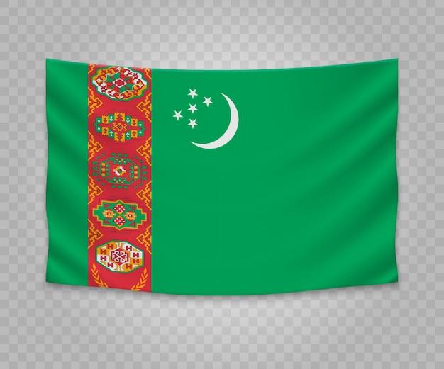 トルクメニスタンのリアルなハンギングフラグ