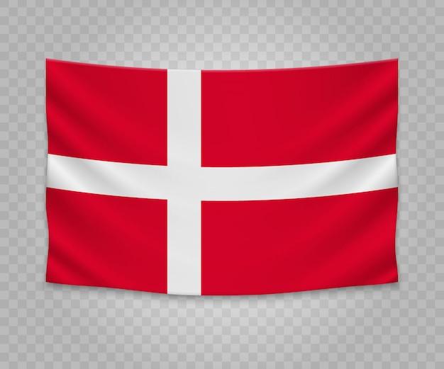 デンマークのリアルなハンギングフラグ