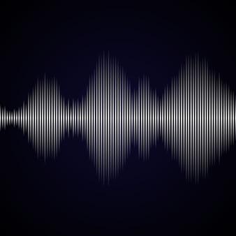 イコライザーの背景からの多色音波