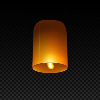 Небесный фонарик изолированный на прозрачном.