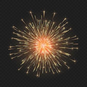 お祝いの明るい花火。