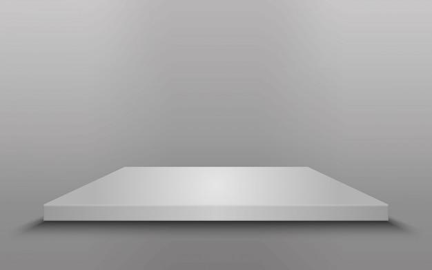 Квадратный подиум, пьедестал или платформа изолированные