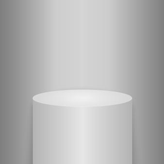 Круглый подиум, пьедестал или платформа с подсветкой