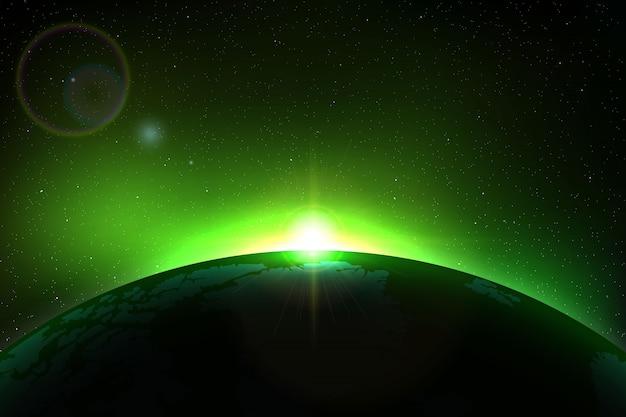 あなたのデザインの皆既日食と宇宙の背景