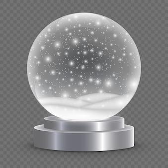 Рождество снежный шар изолированы.