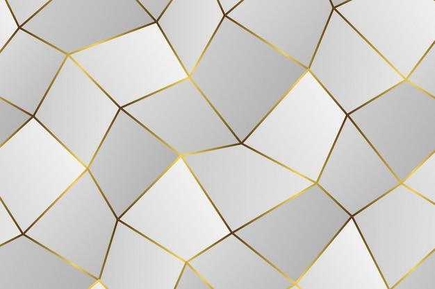 黄金の幾何学的な抽象的なパターン。