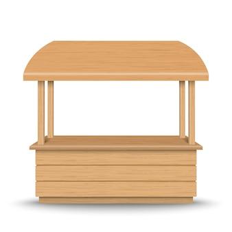 木製マーケットスタンド