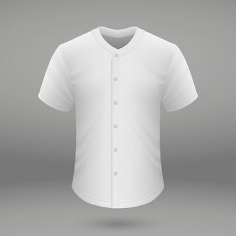野球ジャージのシャツテンプレート