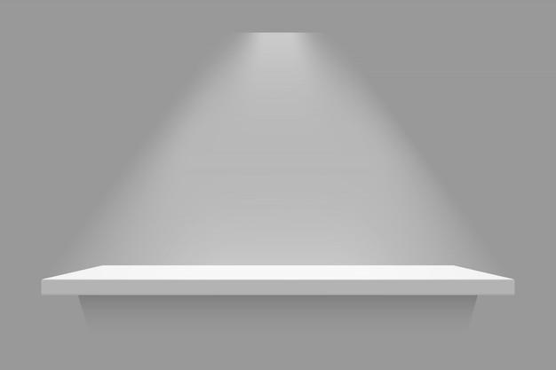 分離された白い棚