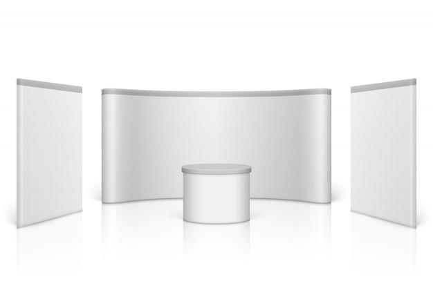 白い空白の展示会ブース