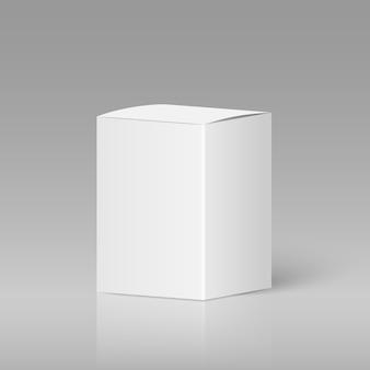 現実的な白い空白のボックス