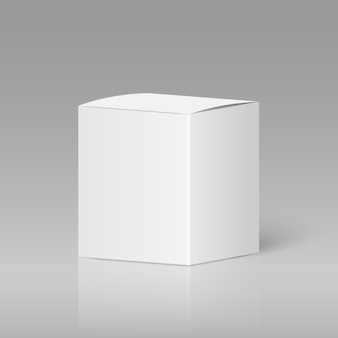 Реалистичная белая пустая коробка