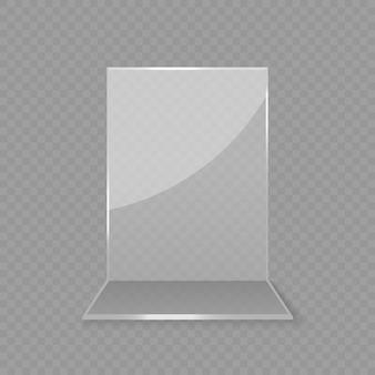 アクリルガラス製テーブルカードディスプレイ