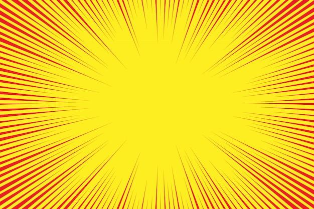 太陽光線とレトロなコミックスタイルの背景
